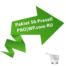 Pakiet 50 Presell PRO | Wordpress.com RU